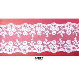 White Lace Ribbon (1 m)
