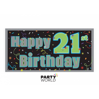 21st Birthday Giant Banner