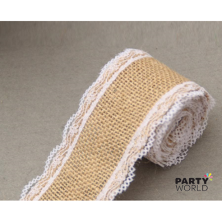 Hessian and Lace Ribbon (5 m) ver. 2