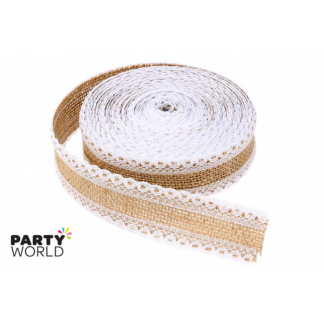 Hessian and Lace Ribbon (5 m) ver. 3