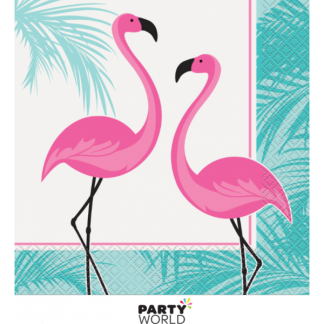Pink Flamingo Luncheon Napkins (16)