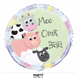 Farmyard Party Foil Balloon 18in