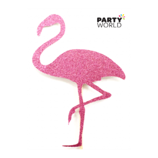 Pink Flamingo Mini Glitter Sticker
