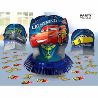 Cars Table Decoration Kit (3 pieces & confetti)