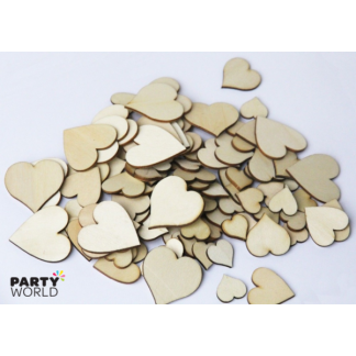Wooden Heart Confetti Assorted Sizes