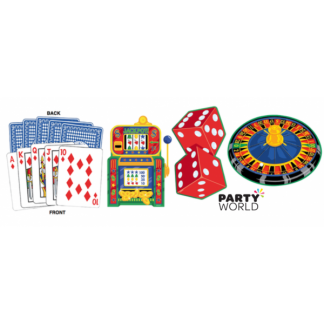 Casino Large Paper Cutouts (4)
