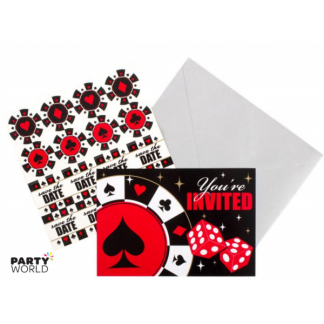 Casino Invitations Pack (8)