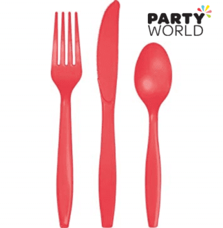 coral cutlery