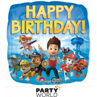 Paw Patrol Square Foil Balloon 17in
