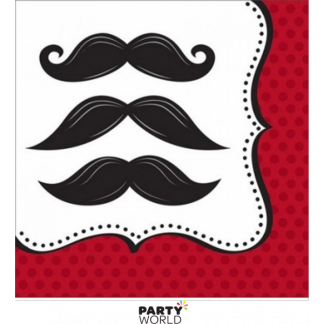 Mustache Madness Luncheon Napkins (16)