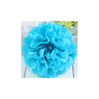 12in Puff Ball -Sky Blue