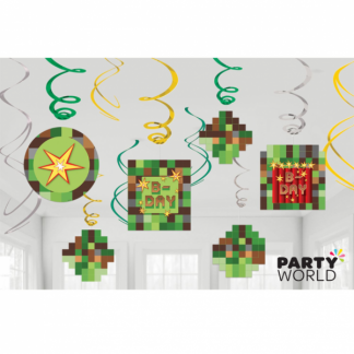 Minecraft TNT Party! Pixel Swirl Decorations (12)