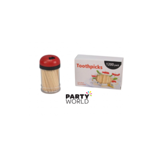 Wooden Toothpicks with Table Dispenser (1200)
