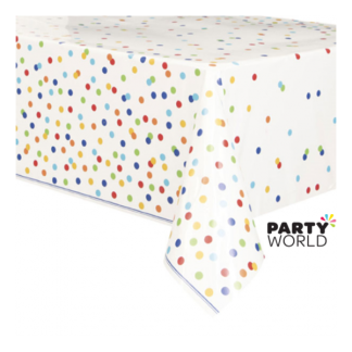 Rainbow Polka Dot Tablecover