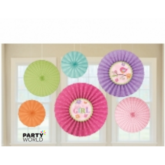 Tweety Baby Girl Paper Fan Decorations (6)