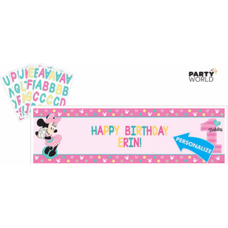 Minnie's Fun To Be One Personalized Giant Banner Kit