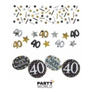 Sparkling 40th Birthday Confetti (34g)