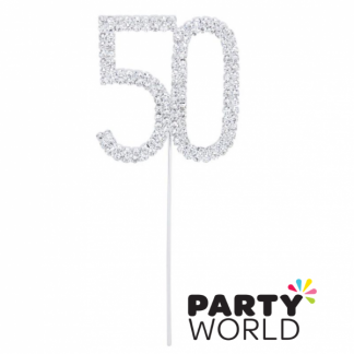 50th Diamante Cake Topper