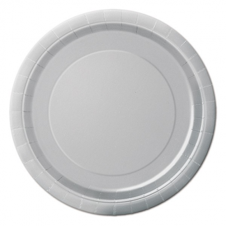 Silver Paper Plates 9in (8)