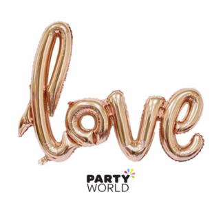 Rose Gold Love Foil Balloon (air fill only)