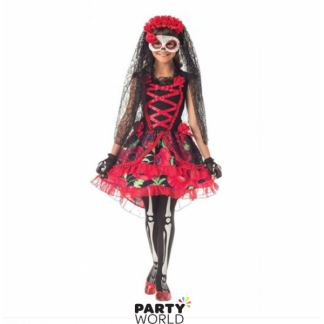 Day of the Dead Girl Costume (Size S)