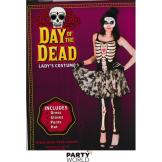 Day of the Dead Ladies Costume - One Size