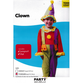 Clown Toddler Costume - Toddler