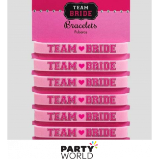 Team Bride Rubber Bracelets (6)