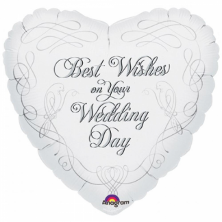Best Wishes On Your Wedding Day Foil Balloon