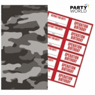 Operation Camo Paper Treat Bags with Stickers (6)