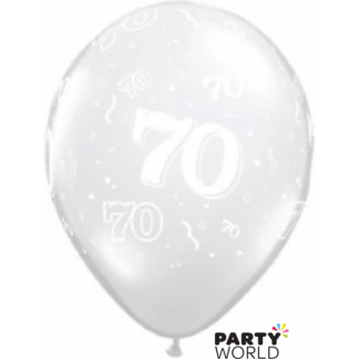 Clear 70th Balloons (5)