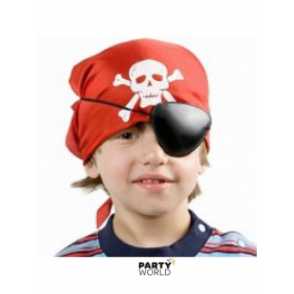 Pirate Eyepatch & Red Bandana