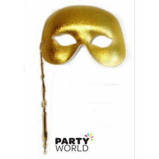 Grand Soiree Gold Handle Mask