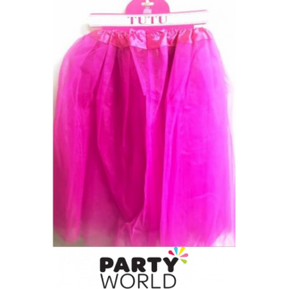 Long Adult Hot Pink Tutu (60cm)