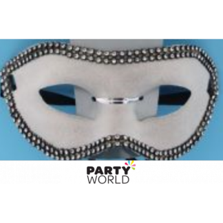 Silver and Diamante Masquerade Mask