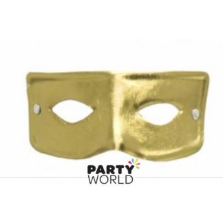 Metallic Gold Plain Masquerade Mask