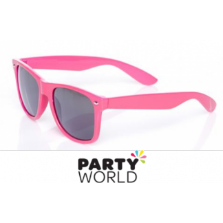 Pink Party Glasses with Black Lenses