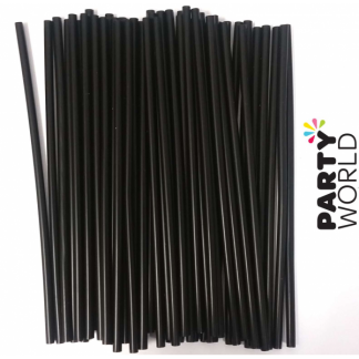 Black Cocktail Straws (80pk)