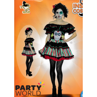 Day of the Dead Ladies Costume - XS