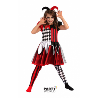 Wicked Jester Girls Costume - M (120-130)