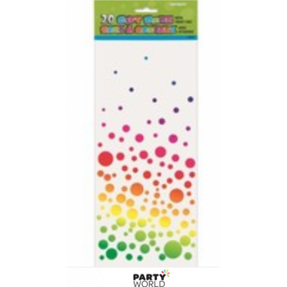 Rainbow Bubbles Cello Gift Bags (20)