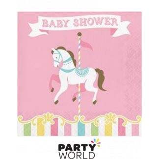 Carousel Baby Shower Luncheon Napkins (16)