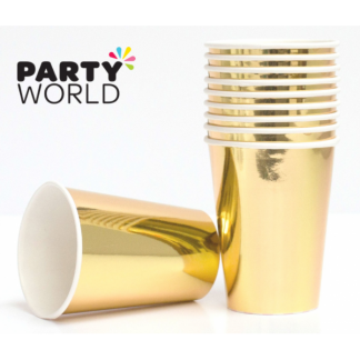 Gold Foil Paper Cups 12oz (8)
