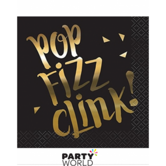Chic Party Pop Fizz Drink Beverage Napkins (16)