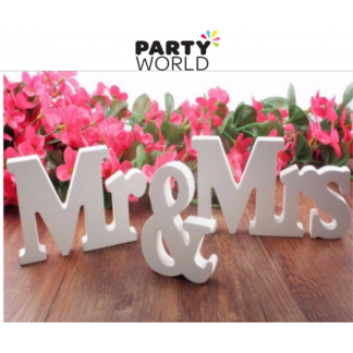 Mr & Mrs White Wooden Signs