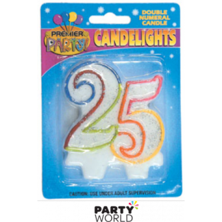 25th Rainbow Candle