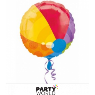 Beach Ball Foil Balloon 17in