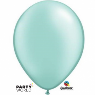 Qualatex 11in Pearl Mint Green Balloons (100)