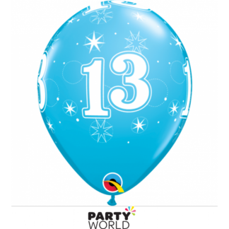 13th Sparkle Blue Balloons (5)