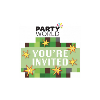 Minecraft TNT Party Pixel Invitations (8)